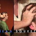 chair massage technique head squeeze