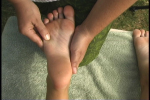 reflexology to the right foot