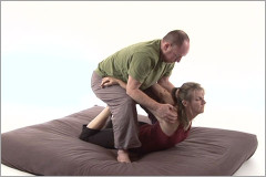 Thai massage stretch