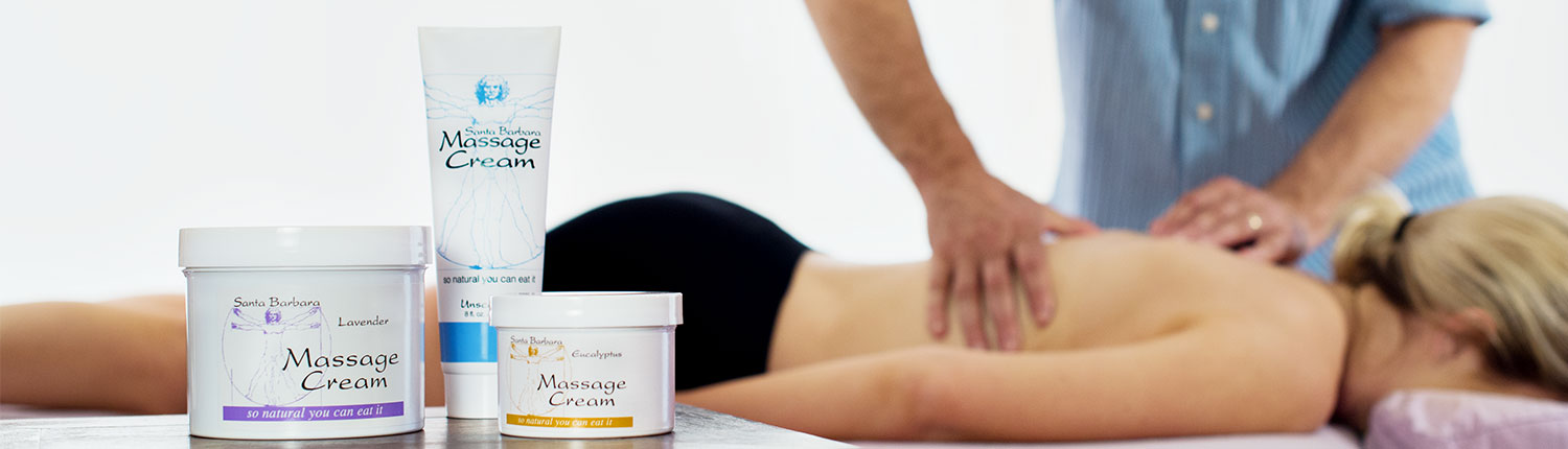 Santa Barbara Massage Cream is so natural you can eat it.
