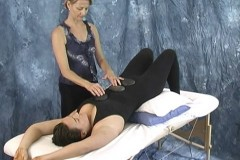restorative yoga and hot stone massage