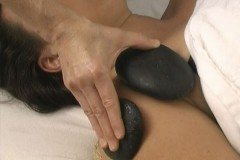 Sports massage with hot and cold stones