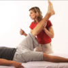 Stretching during a Sports Massage session