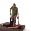 Thai massage leg and arm stretch