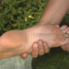 toe reflexology treatment