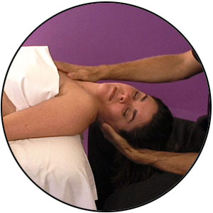 Myofascial work on the anterior neck