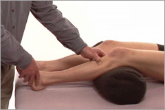 Orthopedic massage for the tibialis anteior